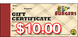 $10 TK Gift Certificates