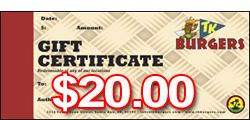 $20 TK Gift Certificates