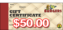 $50 TK Gift Certificates